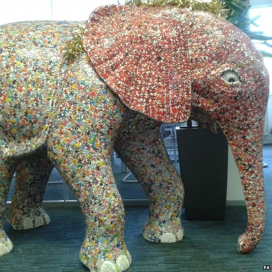 słoń puzzle