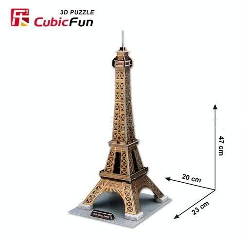 puzzle wieża Eiffla Cubic Fun